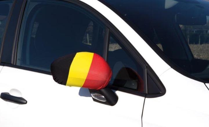 autospiegel hoezen Belgische vlag set van 2 stuks