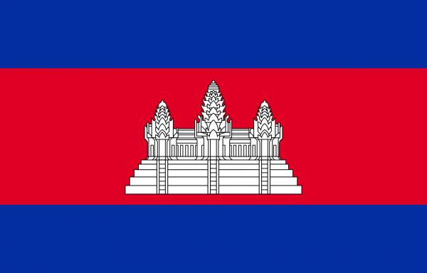 Vlag Cambodja 100x150cm Glanspoly