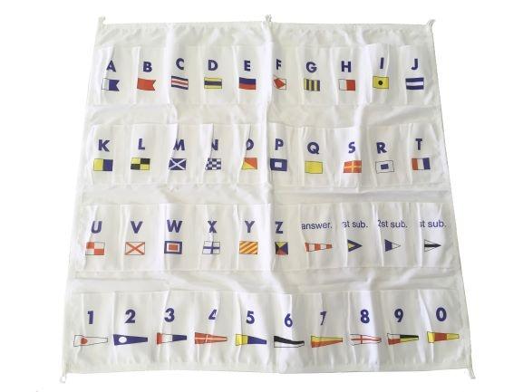 Tas voor seinvlaggen set 50x70cm