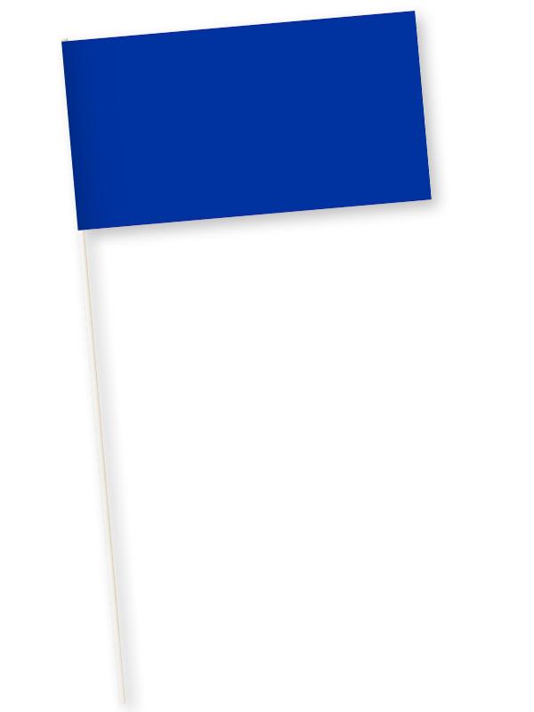 blauwe zwaaivlaggetjes papier 11x21cm 10 stuks