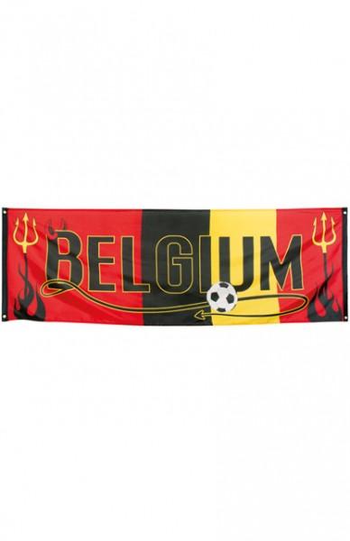 Spandoek EK WK Belgie voetbal Rode Duivels 74x220cm