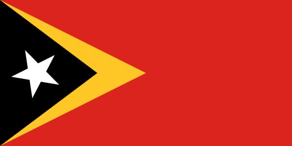 tafelvlaggen Oost-Timor 10x15cm | Oost-Timorese tafelvlag