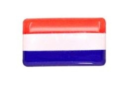 Mini 3d sticker Nederlandse vlag