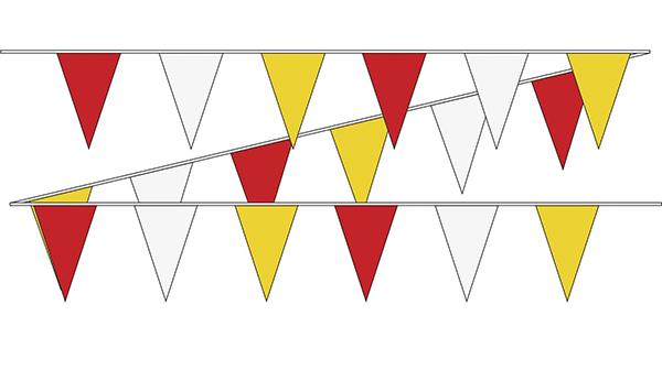 Vlaggenlijn Carnaval Oeteldonk rood wit geel 10m1