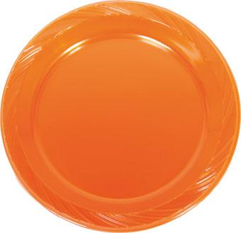 Oranje Borden wegwerp bordjes plastic 8 stuks