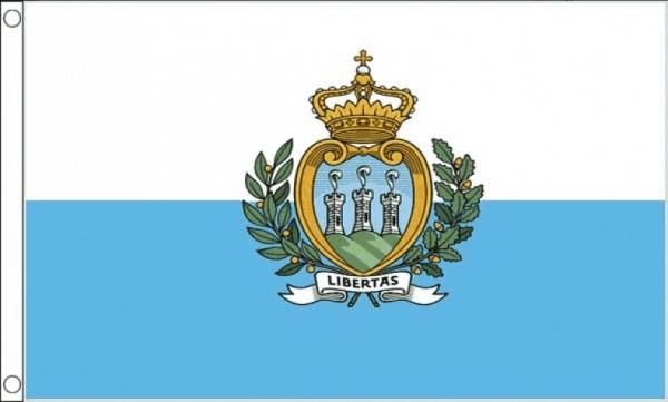 Vlag San Marino met wapen 60x90cm