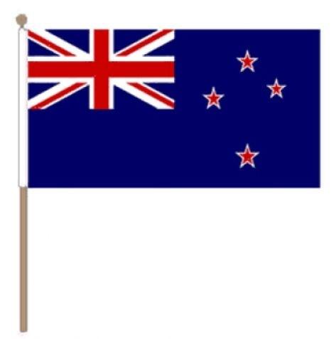 Zwaaivlag Nieuw-Zeeland, Nieuw-Zeelandse fanvlag 15x22,5cm, stoklengte 30cm