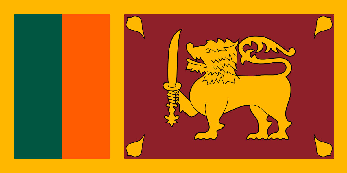 Sri Lankaanse vlag | vlaggen Sri Lanka 100x150cm gevelvlag