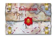 8 Uitnodigingen Red Pirate