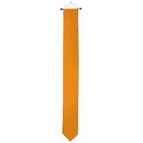 Oranje wimpel 18x210cm met stokje passend bij vlag 100x150cm