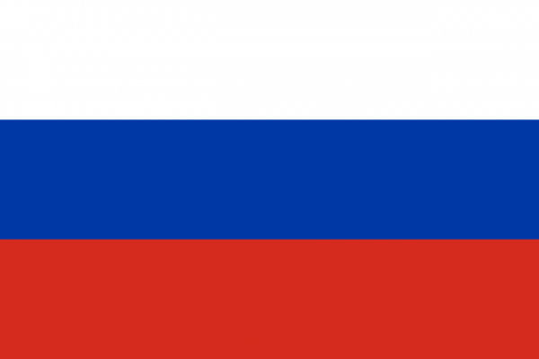 Tafelvlag Rusland met standaard