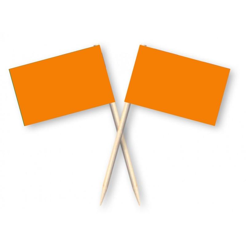 Cocktailprikkers oranje, 50 stuks