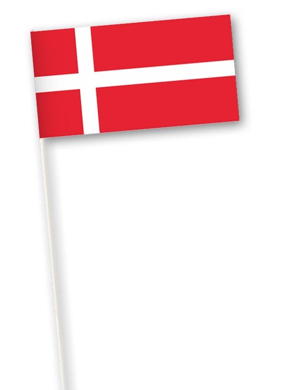 Deense zwaaivlag Denemarken 11x21cm