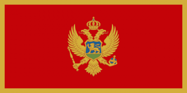 Montenegrijnse vlag, Montenegro 200x300cm