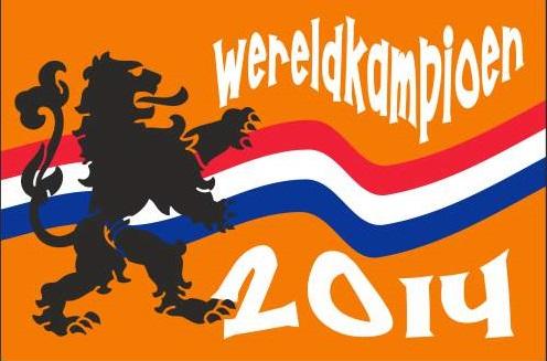 Kampioensvlag 2014 WK Oranje Kampioen 100x150cm