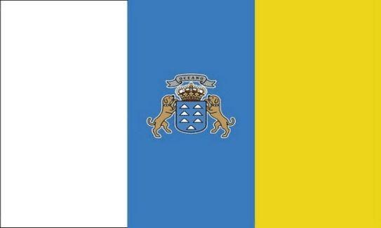 Vlag Canarische Eilanden 30x45cm