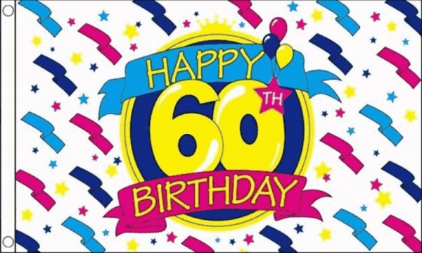 happy 60th birthday 60x150cm