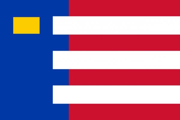 Grote vlag Baarle-Nassau