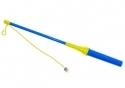 Lampionstok blauw/geel met led licht inclusief batterijen