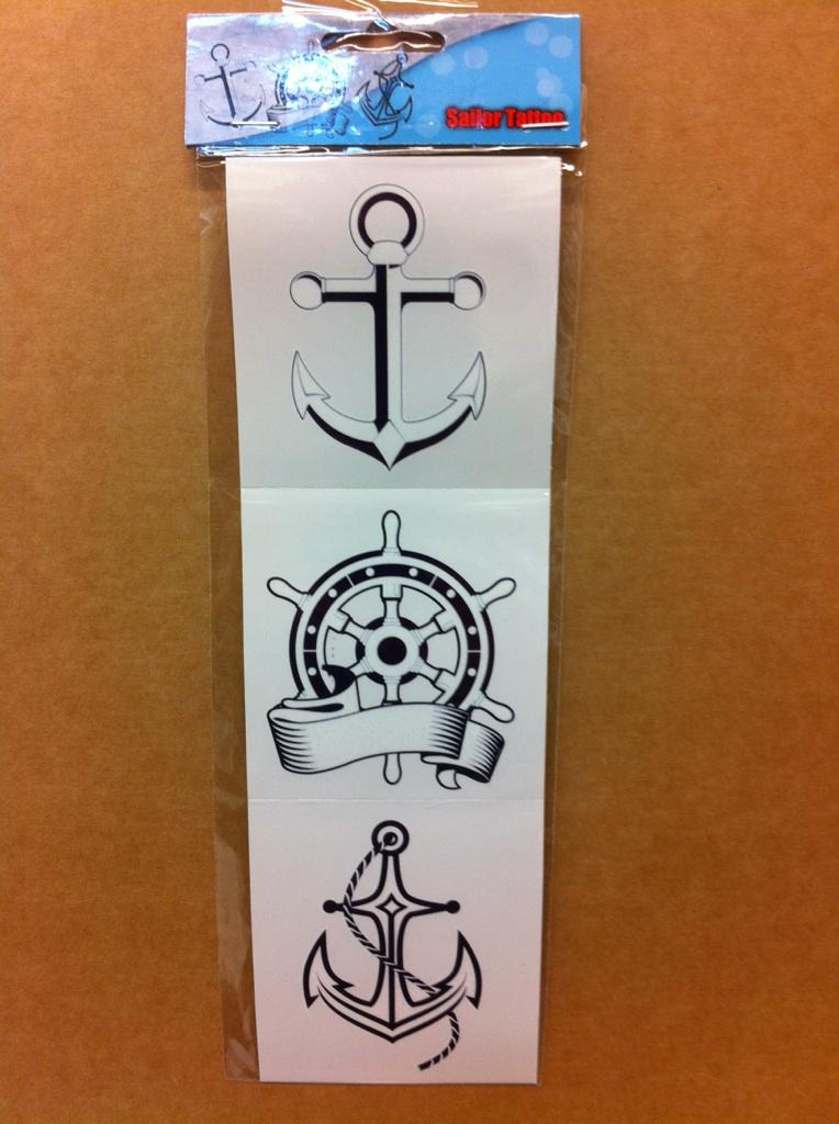 Tattoo Sailor Pirate 3 stuks