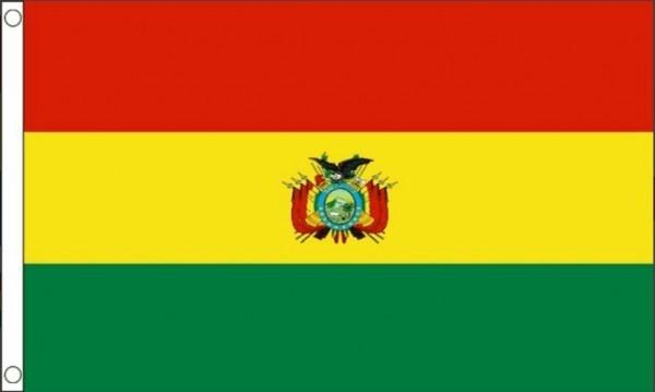 Vlag Bolivia met wapen 60x90cm