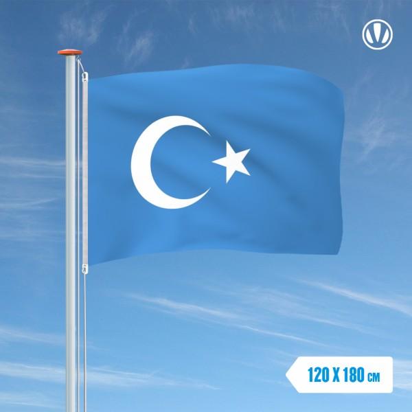 Vlag Oeigoeren 120x180cm