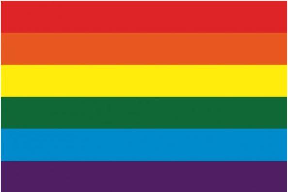 Tafelvlag regenboog 10x15cm