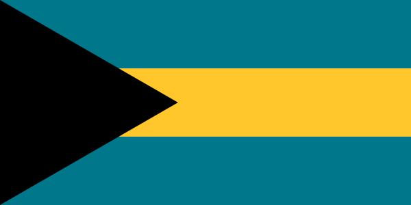Tafelvlag Bahama's met standaard
