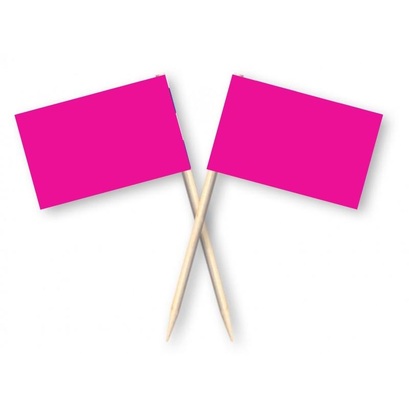 Cocktailprikkers fuchsia, 50 stuks roze