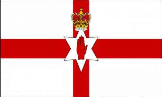 Tafelvlaggen Noord-Ierland, Noord-Ierse tafelvlag 10x15cm