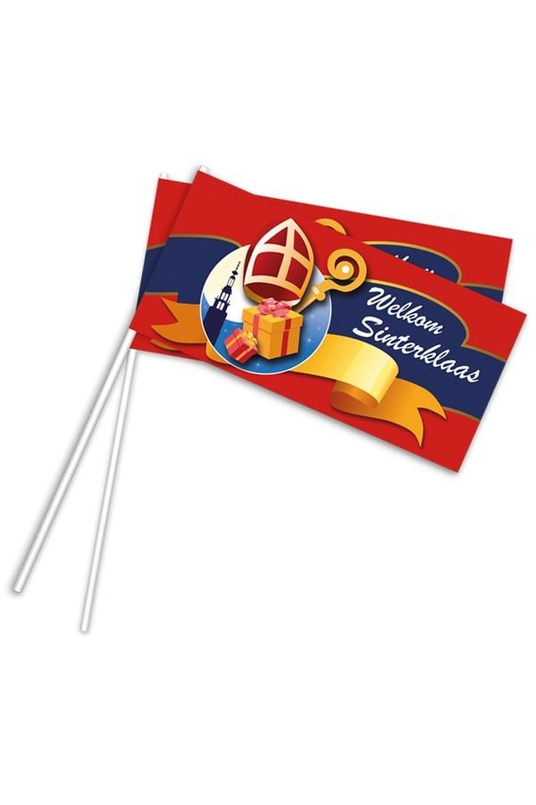 Sinterklaas zwaaivlaggetjes Welkom Sint
