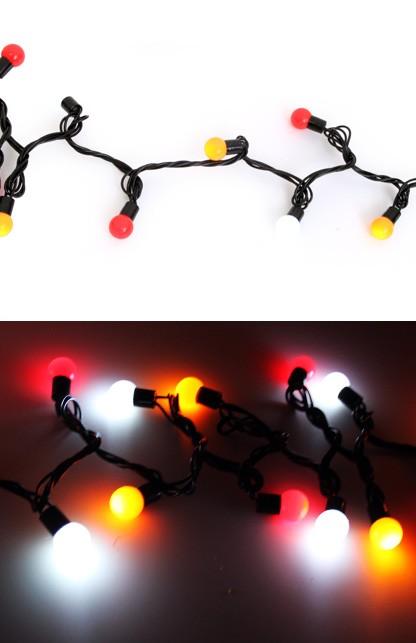 lichtsnoer 50 lampjes 6m rood/wit/geel Oeteldonk