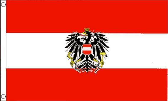 Oostenrijkse vlag | vlaggen Oostenrijk met wapen 90x150cm Best Value