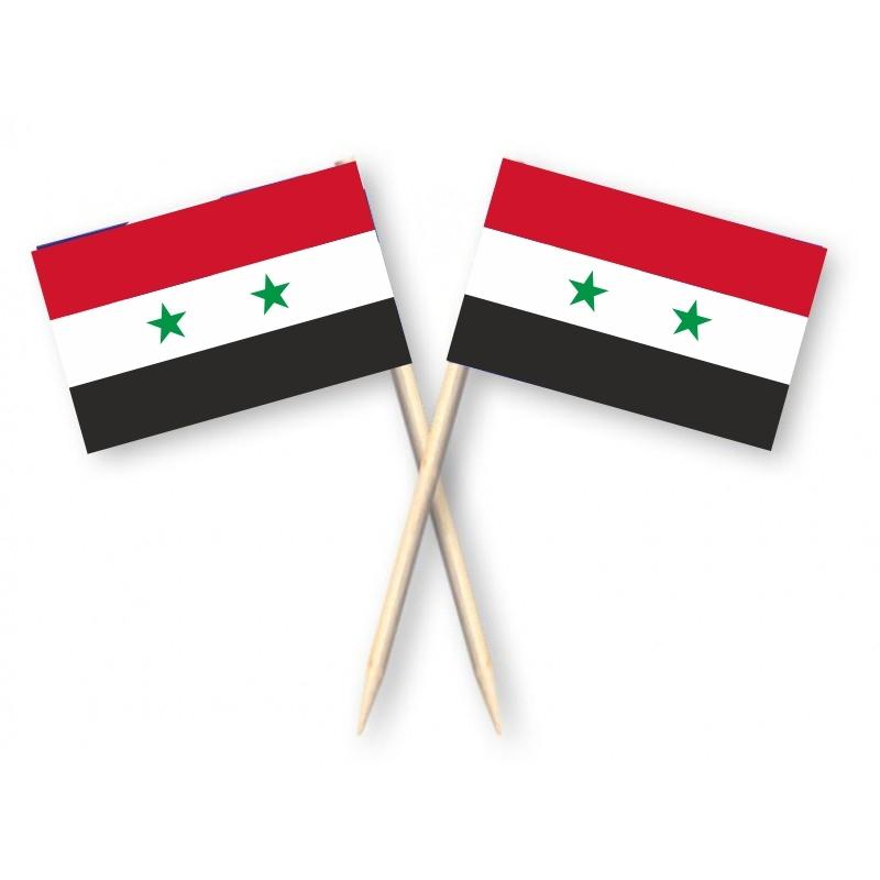 Cocktailprikkers Syrische vlag, Syrie Kaasprikkers 50 stuks