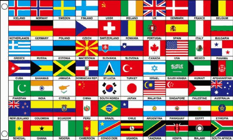 Vlag met vlaggen van de wereld