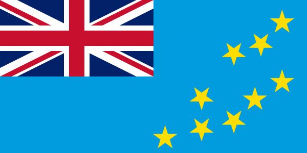 Tafelvlag Tuvalu met standaard