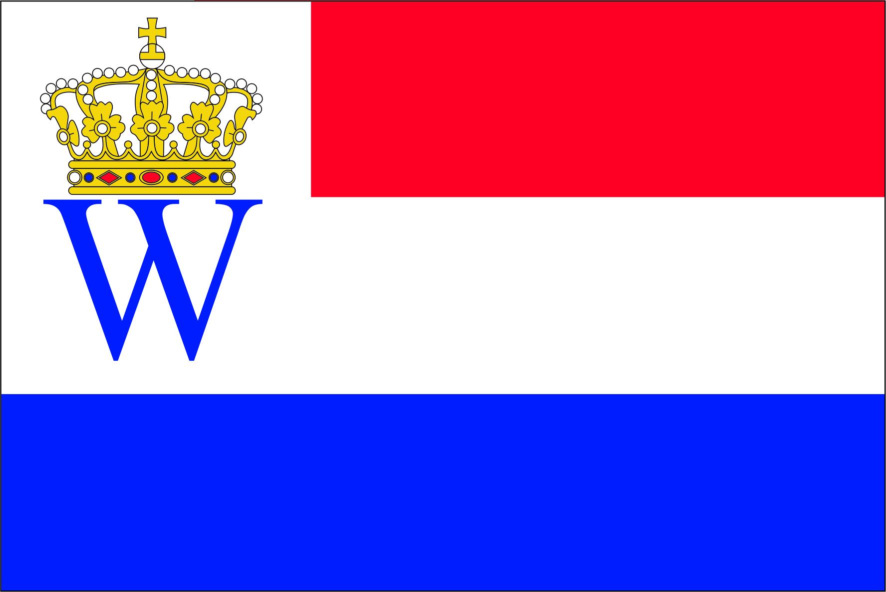 Kroningsvlag kroning Willem IV en Maxima der Nederlanden 70x100cm