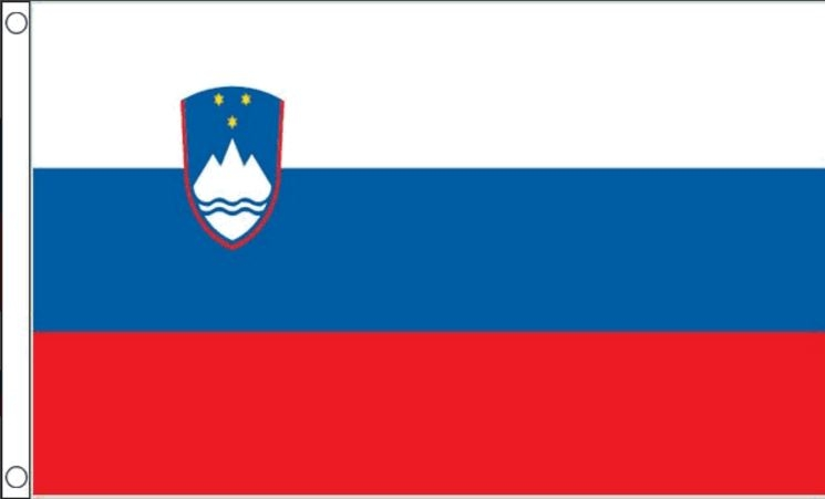 Sloveense vlaggenlijn slinger 3meter lang