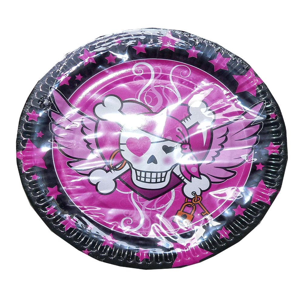 Pirate girl wegwerp borden voor stoere piraten meisjes