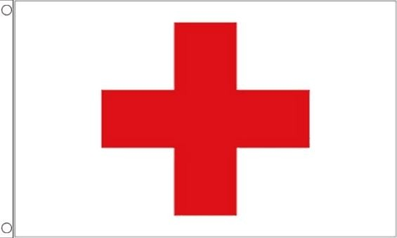 Vlag rode kruis, red cross 90x150cm Best Value