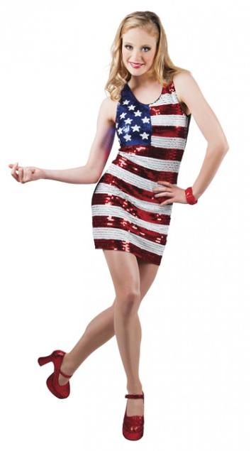 Jurk Dazzle USA Amerikaanse vlag