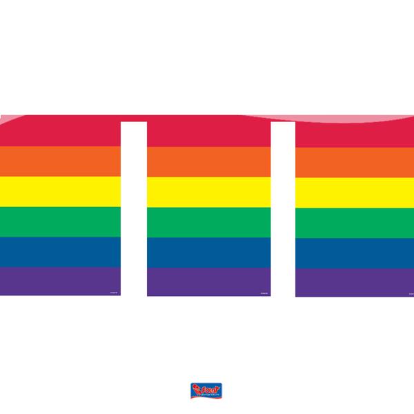 Vlaggenlijn met regenboog vlaggen vlaggetjes 10m1