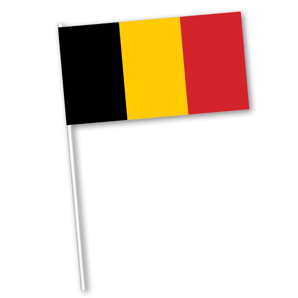 Zwaaivlag Belgie papier 11x21cm