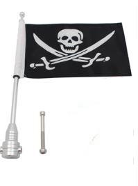 Luze motorvlag standaard voor op uw motor