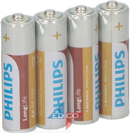 Batterij AA Longlife PHILIPS 1,5 V