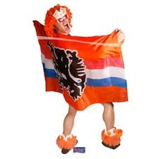 Oranje vlag cape Nederland Leeuw Oranje EK   WK en Koningsdag 150x100 cm
