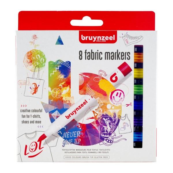 8 textiel markers Bruynzeel