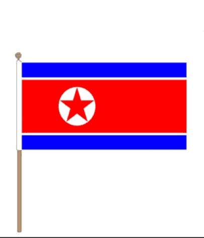 Noord Korea zwaaivlag 30x45cm