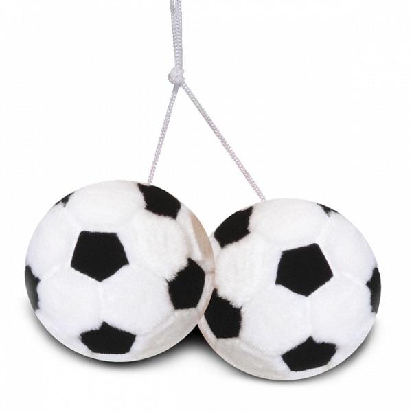 autospiegel geluks Voetballen pluche zwart/wit WK | EK