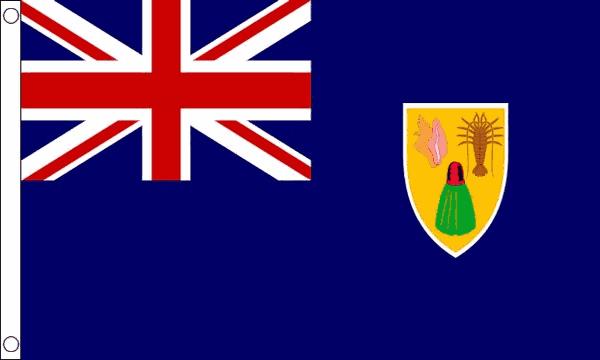 Vlag Turks- en Caicoseilanden 60x90cm